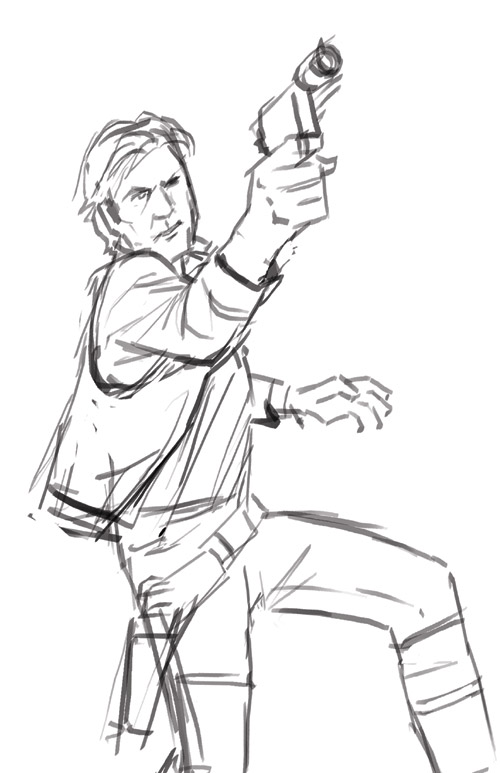 Star wars easy drawing at free for for Han solo coloring pages