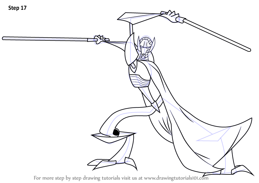 844x598 Learn How To Draw General Grievous From Star Wars (Star Wars) Step