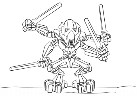480x333 Lego General Grievous Coloring Page Free Printable Coloring Pages