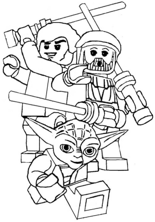 600x859 Lego Star Wars Yoda Coloring Pages Printable To Pretty Print Draw