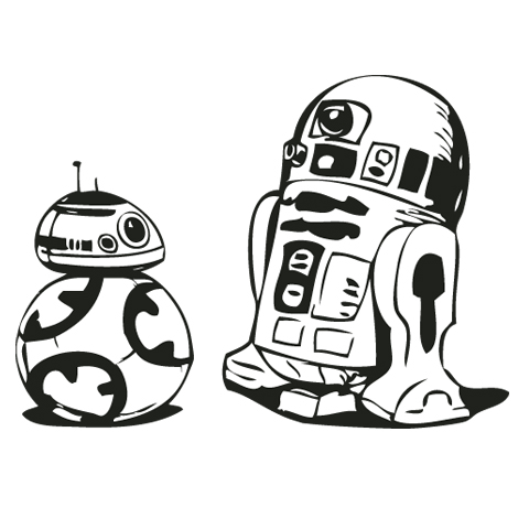 Star Wars Line Drawing