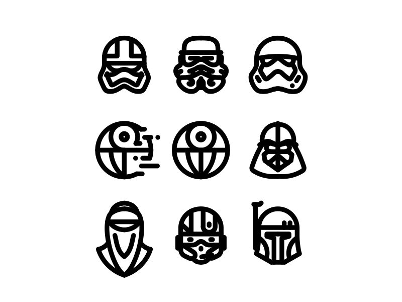 800x600 Star Wars Icons No.1 By Aleksandar Savic
