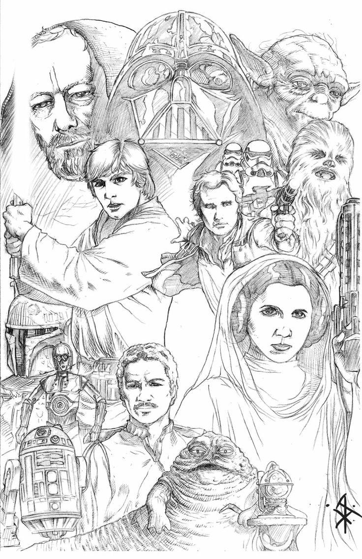 Star Wars Pencil Drawing