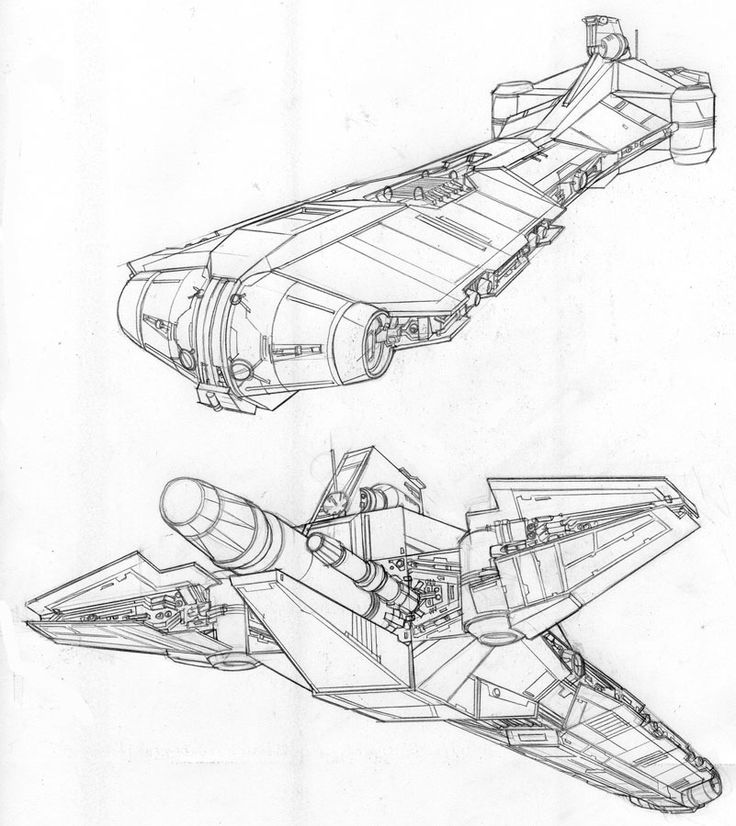736x826 Drawn Spaceship Starship