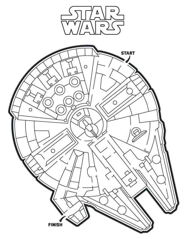 618x799 Star Wars Clone Coloring Pages The Force Awakens Millennium Falcon