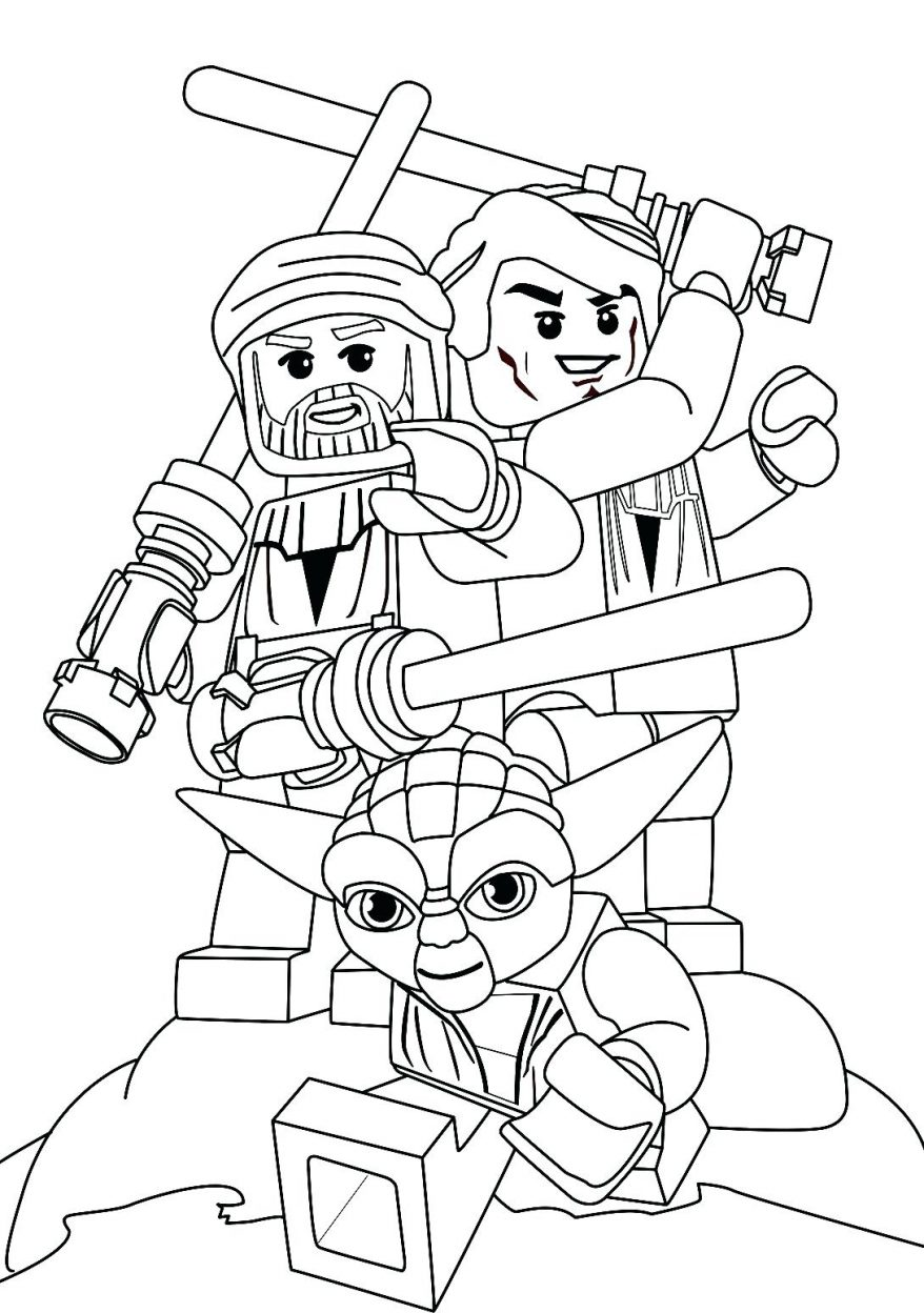 878x1248 Star Wars Coloring Page For A To Download 43 Awesome Lego Pages