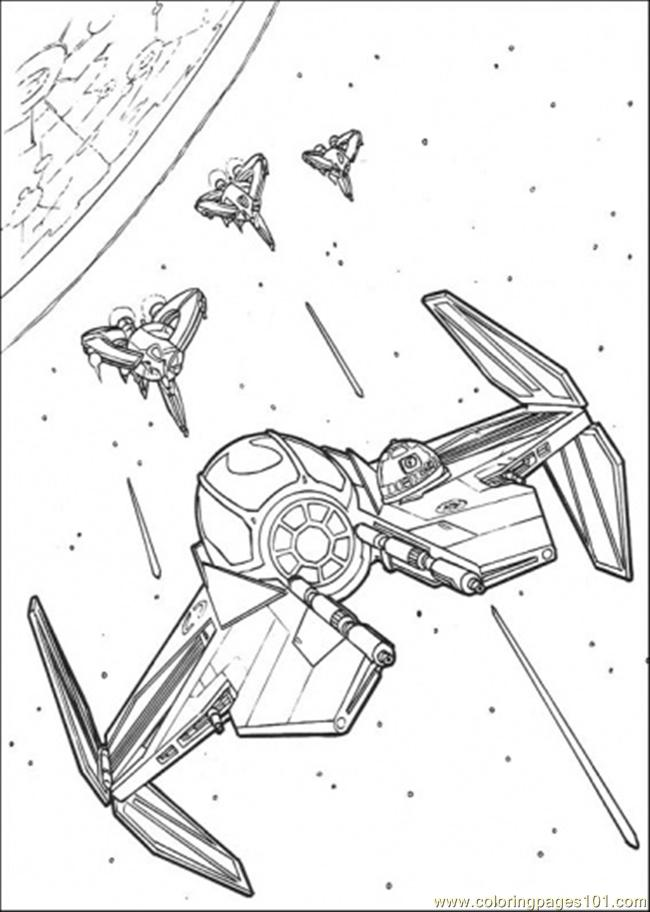 650x912 Star Wars Ship 7 Coloring Page