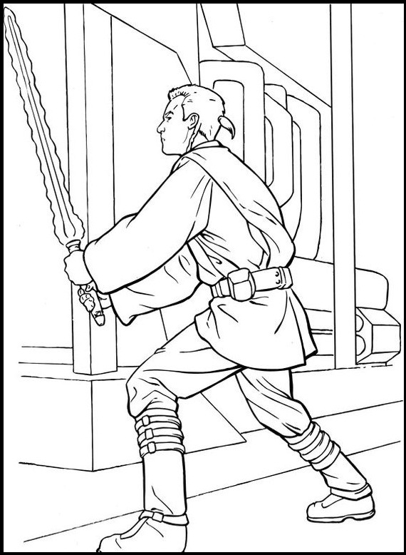 570x778 Obi Wan Kenobi Spaceship Star Wars Coloring Pages