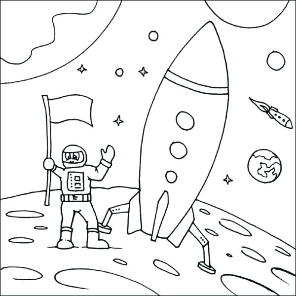 600x600 Space Ship Coloring Page Mickey Mouse Rocket Ship Coloring Pages