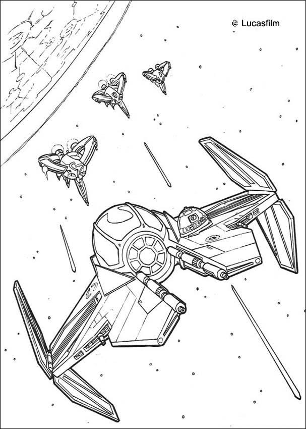 607x850 Spaceships War Coloring Page Homeschooling