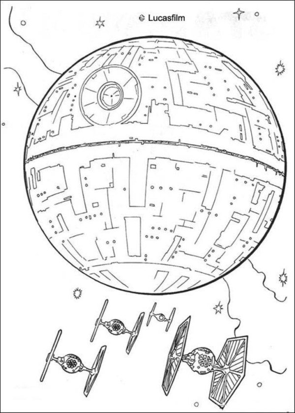 600x840 Star Wars Spaceships Coloring Pages