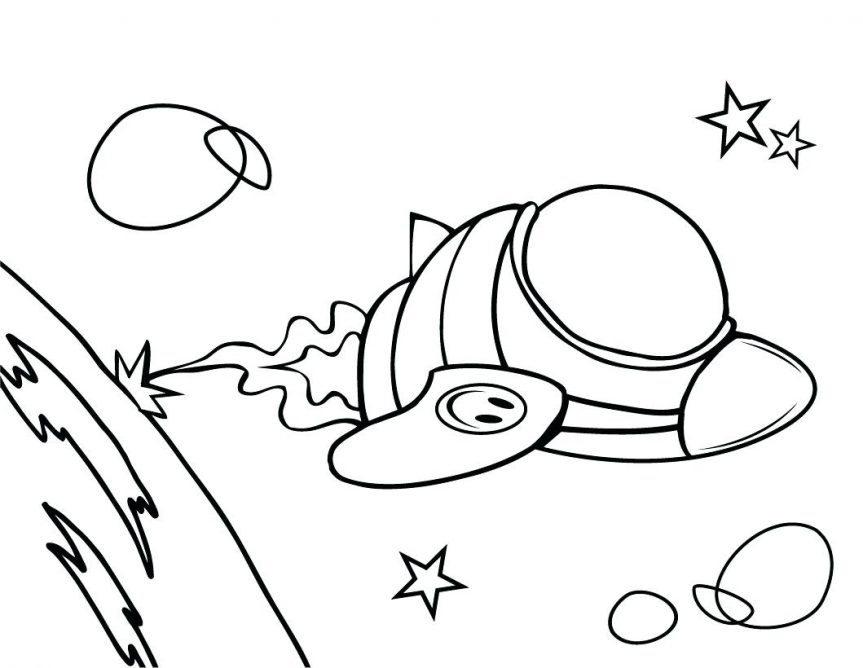 863x668 Amazing Spaceship Coloring Page Cool And Best Ideas Pages
