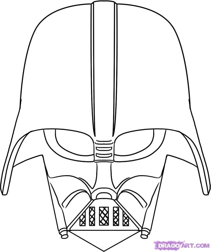 734x876 Drawn Star Wars Simple