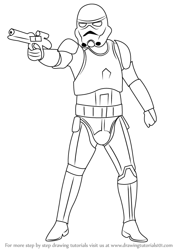 598x844 Learn How To Draw Stormtrooper From Star Wars (Star Wars) Step By