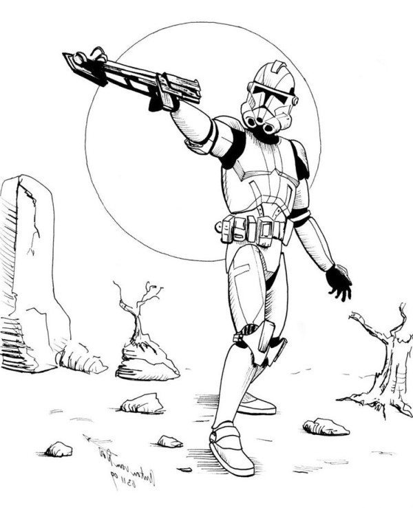 600x737 Star Wars Coloring Pages Stormtrooper