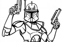 220x150 Star Wars Stormtrooper Art Coloring Page