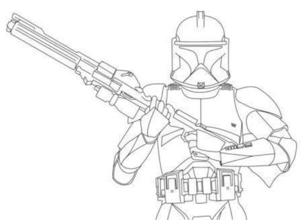 600x439 Star Wars Stormtrooper Clone Wars Coloring Pages
