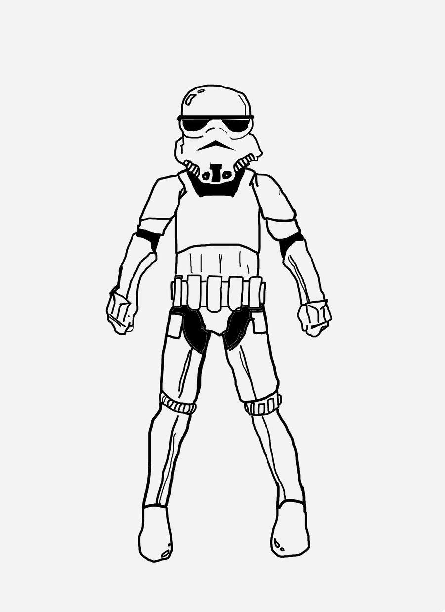 900x1238 Star Wars Stormtrooper Coloring Page Kids Incredible Storm Troop