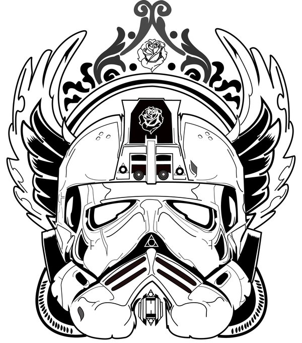 600x681 Star Wars Stormtrooper Illustration By Larrylim