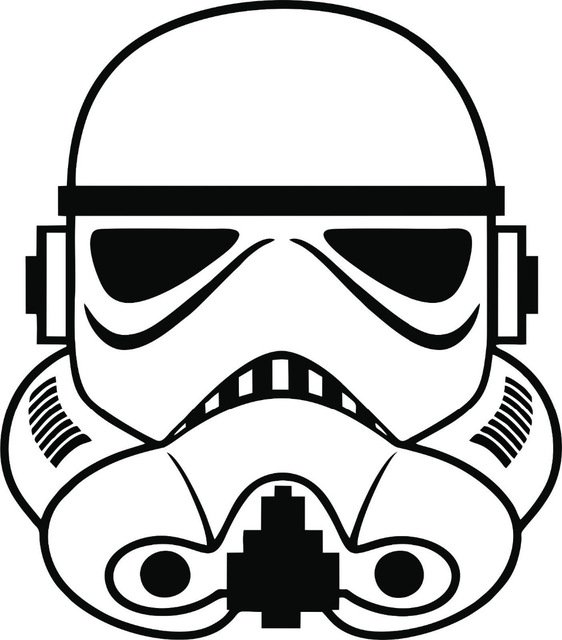 562x640 Free Shipping Stormtrooper Wall Sticker Decal Star Wars Empire Car