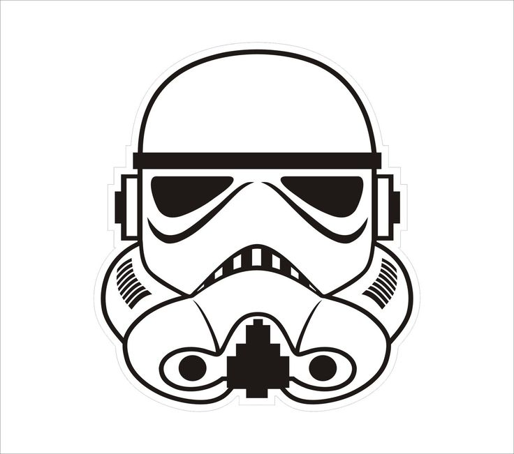 Star Wars Stormtrooper Helmet Drawing