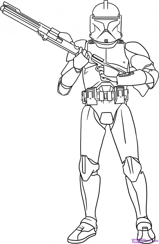 640x981 Stormtrooper Clipart Coloring Page
