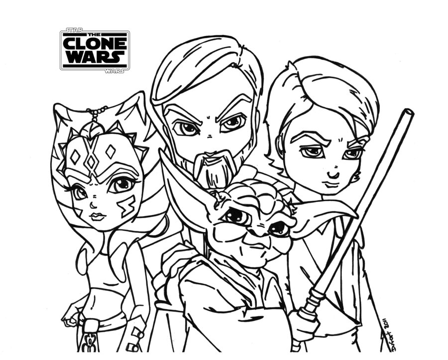 Star Wars The Clone Wars Drawing At Getdrawings Com Free For
