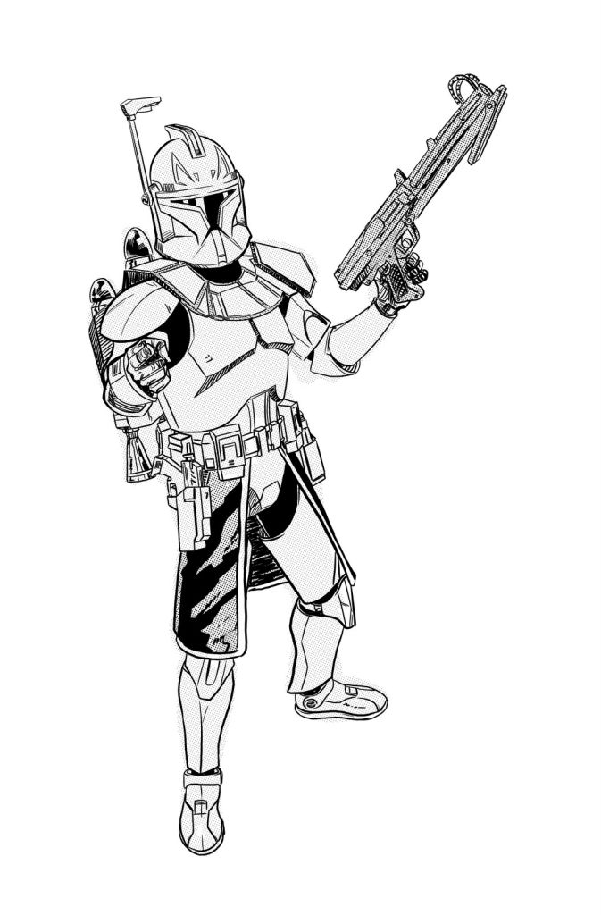 Star Wars The Clone Wars Drawing at GetDrawings.com | Free for ...