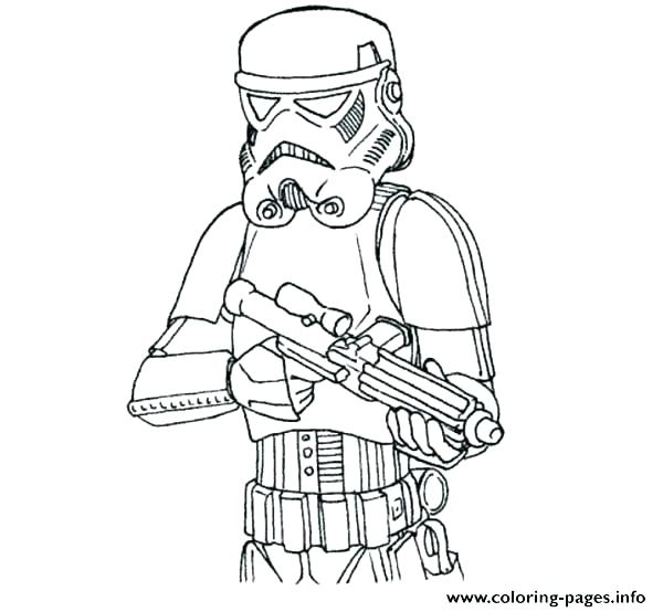 600x554 Star Wars The Clone Wars Coloring Pages Clone Trooper Coloring