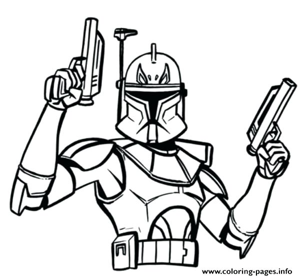 600x557 Captain Rex Coloring Page Star Wars Captain Coloring Pages Star