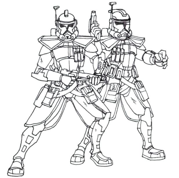 618x617 Clone Coloring Pages Clone Trooper Coloring Pages Print Color