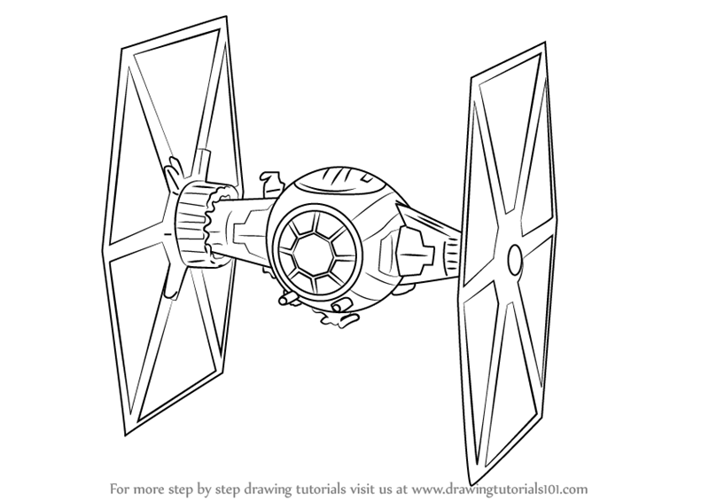 800x566 Learn How To Draw Tie Fighter From Star Wars