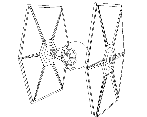 600x475 Raster To Vector Tie Fighter On Behance