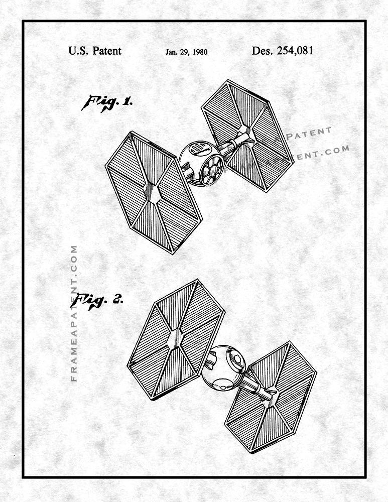 773x1000 Star Wars Tie Fighter Patent Print Patent Prints, Invention
