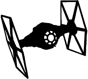 300x267 Star Wars Tie Fighter Car Or Truck Window Decal Sticker Or Wall