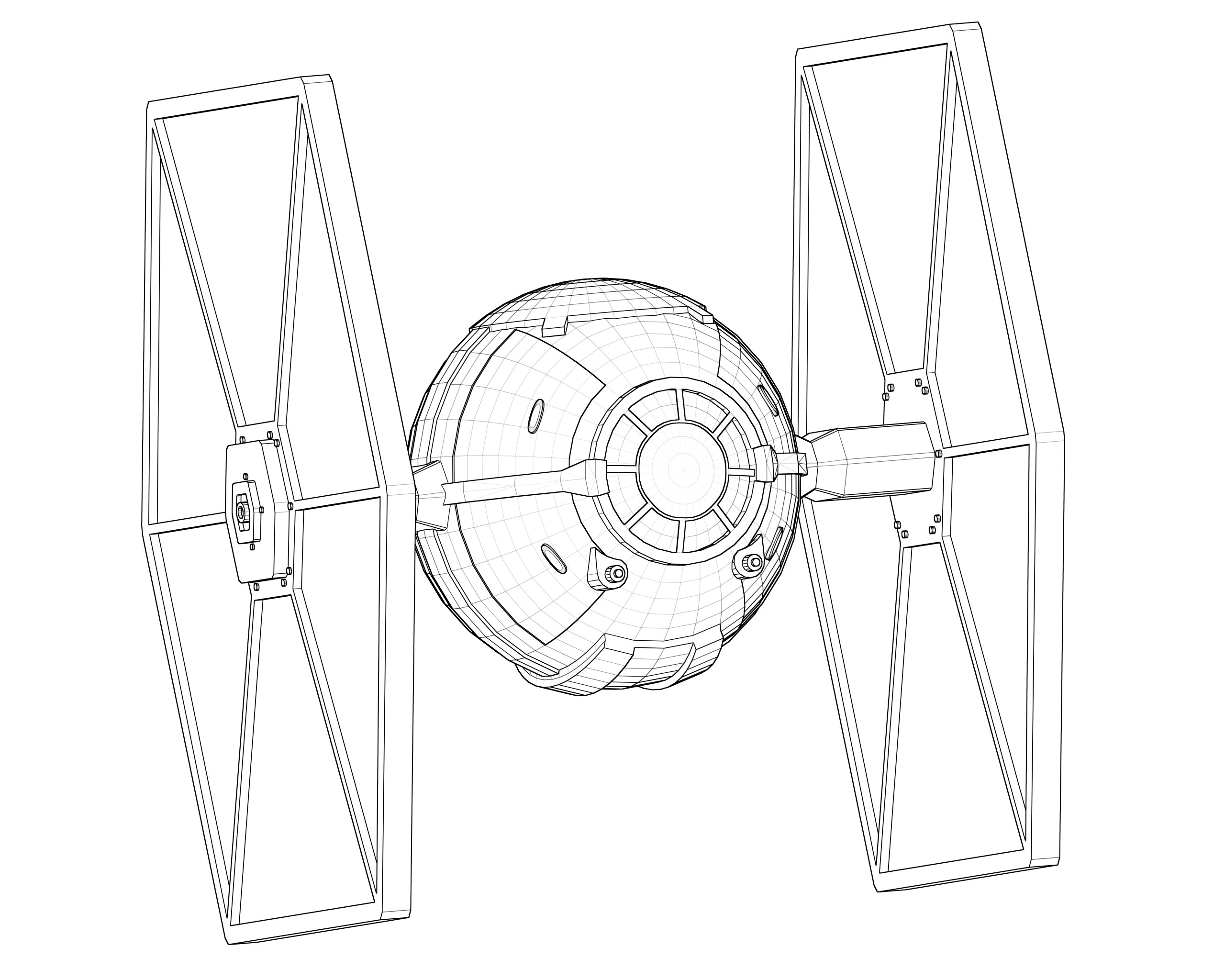 Star Wars Tie Fighter Drawing At Getdrawings Com Free For Personal
