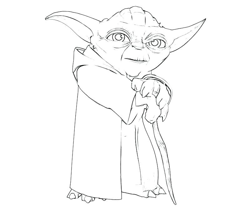 Star Wars Yoda Drawing