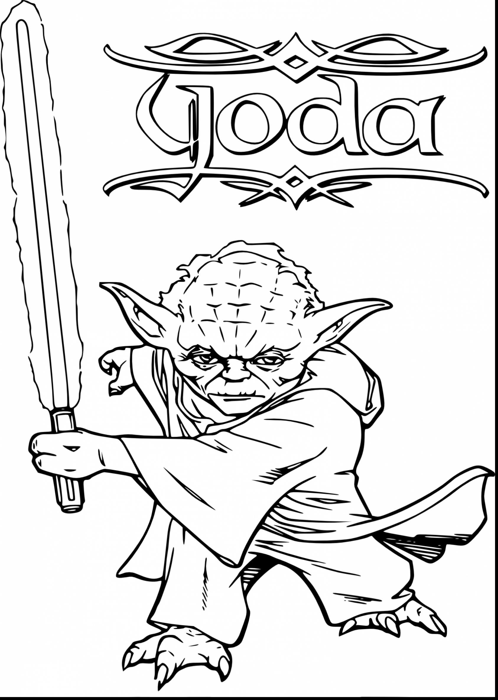 Star wars yoda drawing at free for for Yoda coloring pages