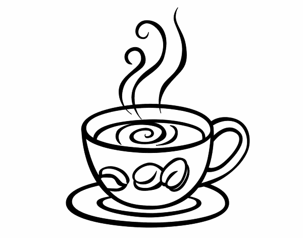 600x470 Hot Coffee Cup Coloring Page Cafe Coffee Cup Coloring Pages