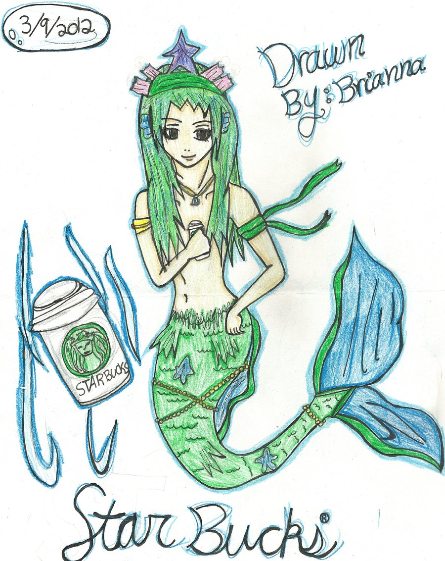900x1133 Starbucks The Mermaid Colored By Akarui Sakura