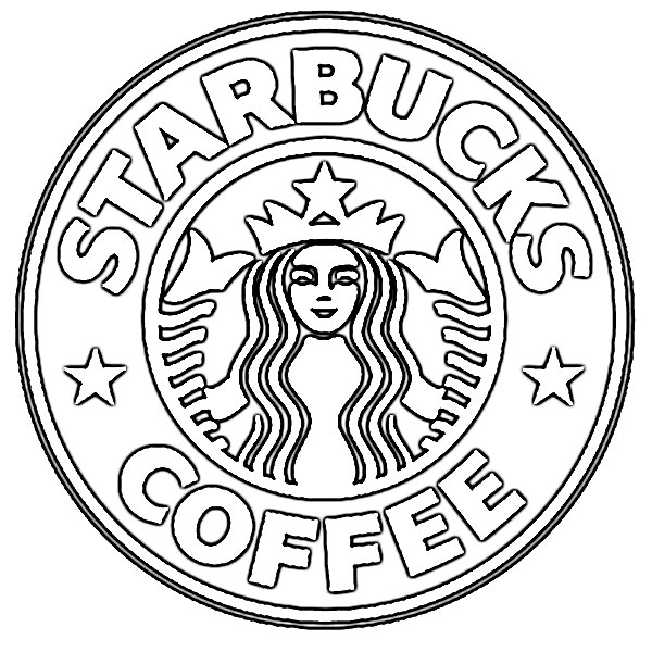 600x600 Drinks Starbucks Coloring Papers Starbucks With Face Coloring Page