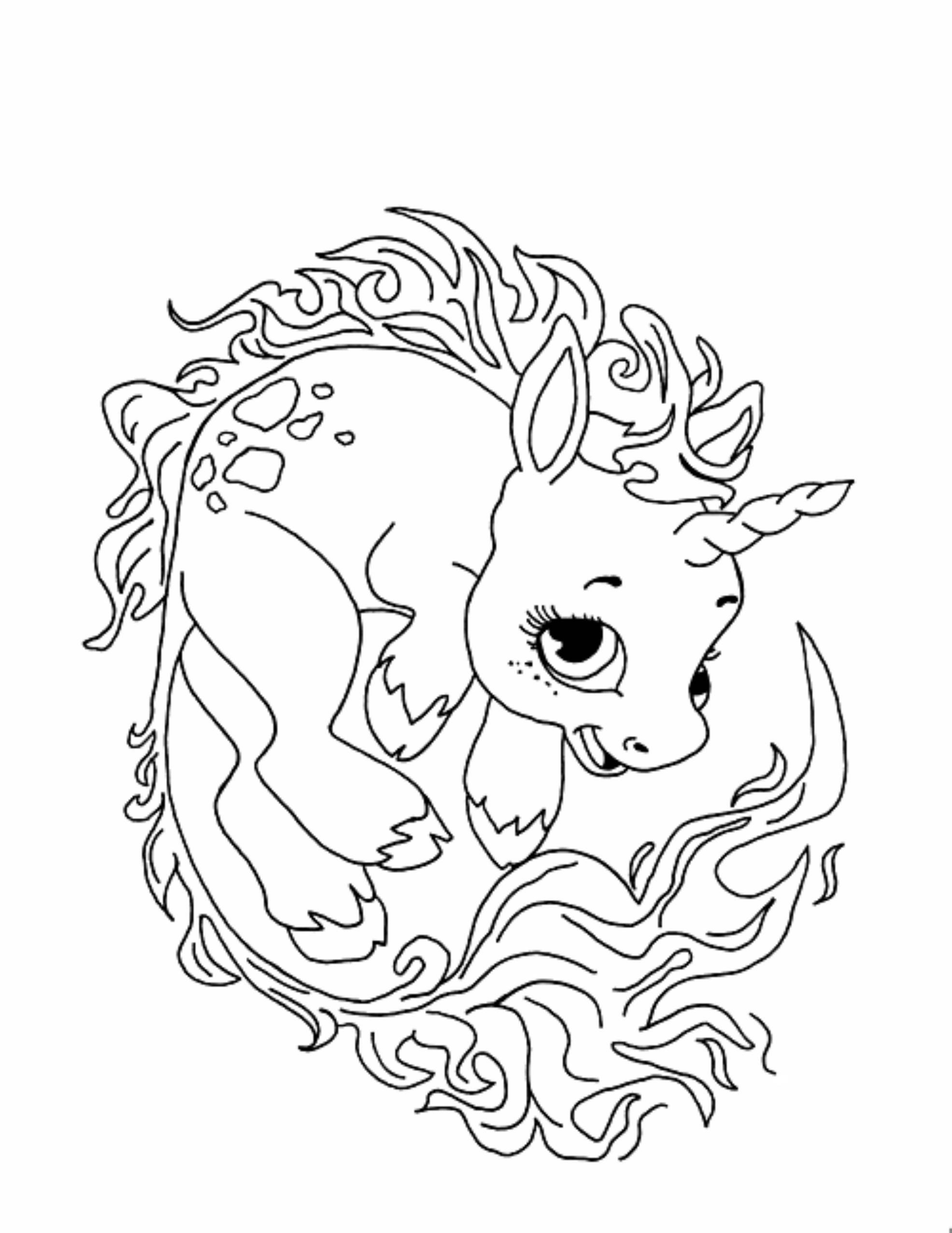 1971x2551 Cute Unicorn Printable Coloring Pages