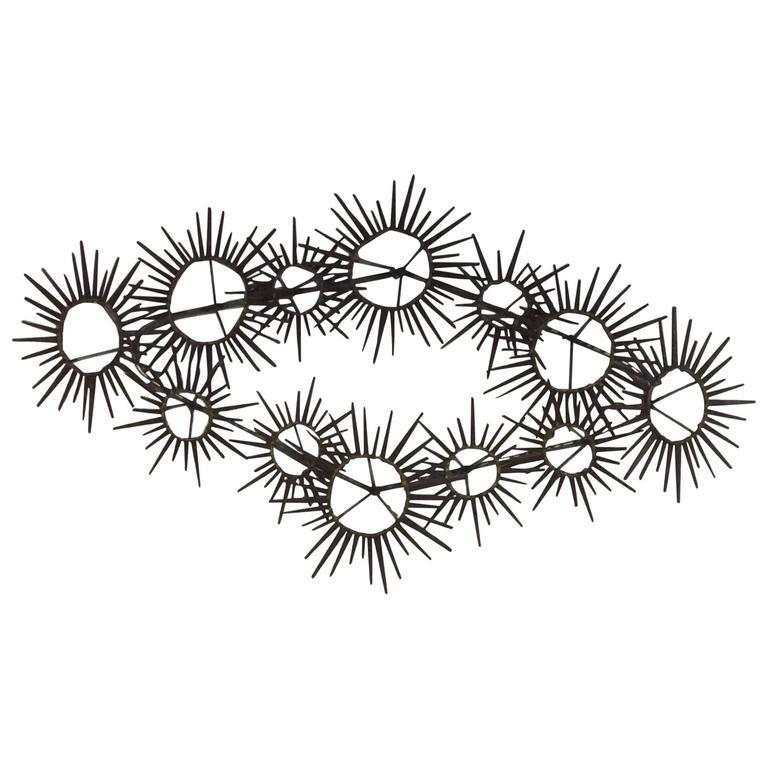 768x768 Brutalist Nail Wall Art Mid Century Modern Vintage Sunburst