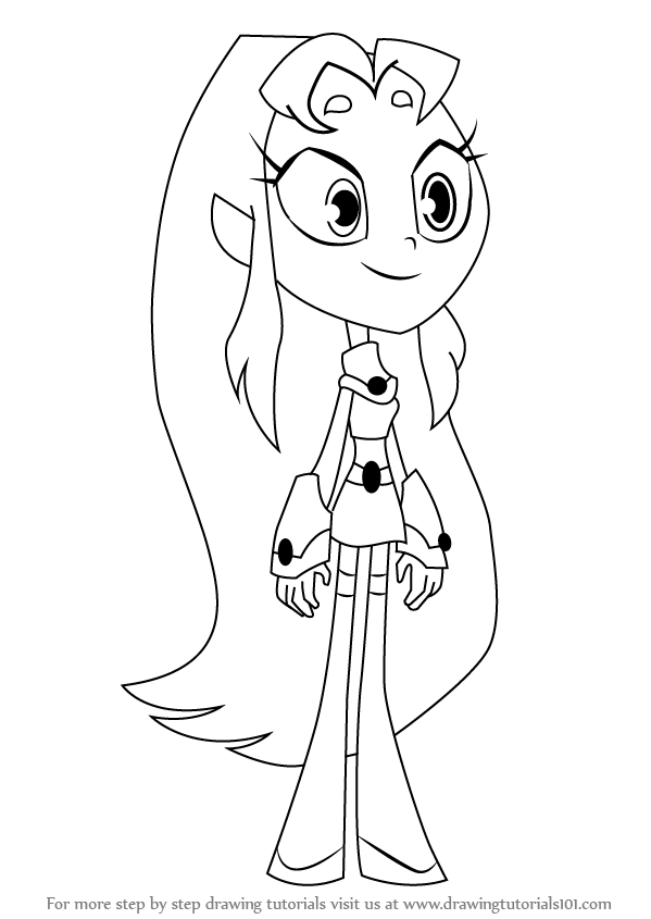 599x845 Learn How To Draw Starfire From Teen Titans Go (Teen Titans Go