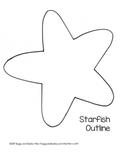 237x300 Easy Starfish Craft For Kids With Free Printable Template