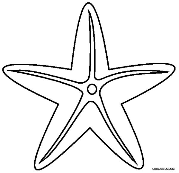 600x581 Printable Starfish Coloring Pages For Kids Cool2bkids