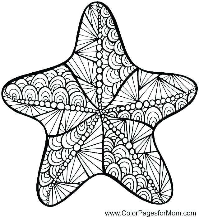 640x696 Starfish Coloring Pages Sea Star Coloring Page Cute Starfish