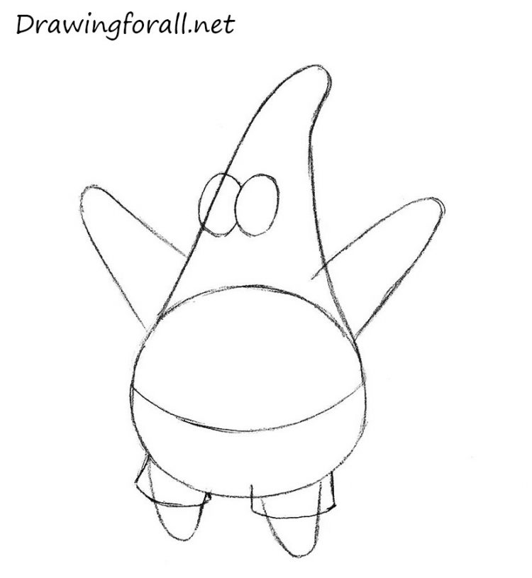 750x815 Drawing How To Draw Patrick Starfish From Spongebob As Well As