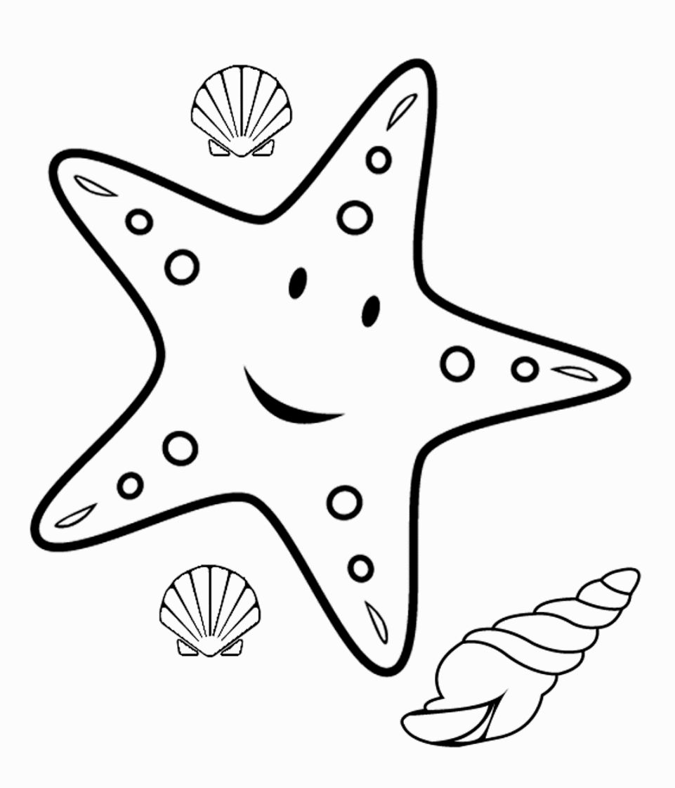961x1121 Starfish Coloring Pages Coloring Pages Starfish