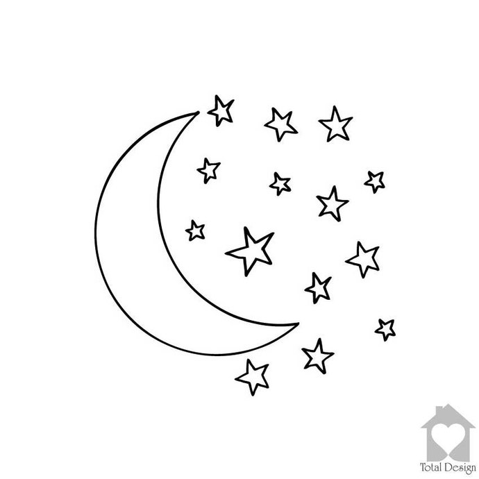 Stars And Moon Drawing At Getdrawings Com Free For